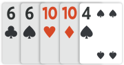 Hráč B – nejlepších pět karet