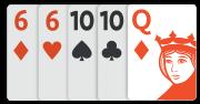 Hráč A – nejlepších pět karet