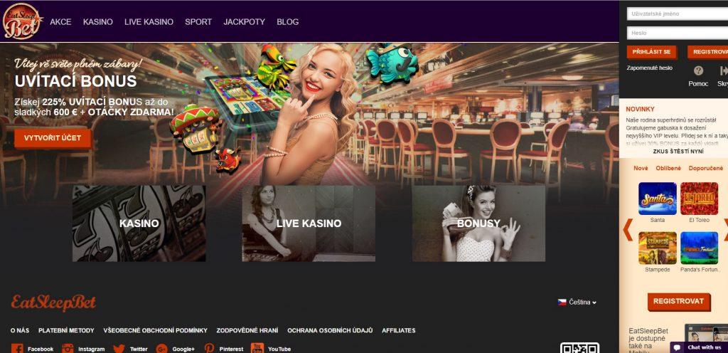 EatSleepBet casino cz